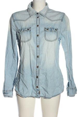 Tom Tailor Denim Jeanshemd blau Casual-Look