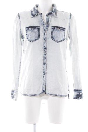 Tom Tailor Denim Jeanshemd hellbeige-dunkelblau Jeans-Optik