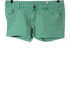 Tom Tailor Denim Short en jean vert style décontracté