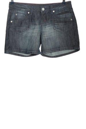 Tom Tailor Denim Short en jean noir style décontracté