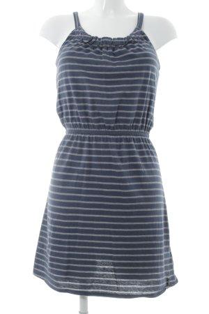 Tom Tailor Denim Jerseykleid graublau-grau Streifenmuster Casual-Look