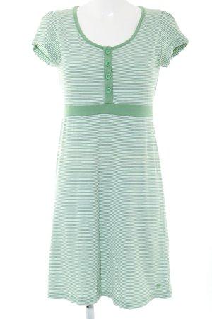 Tom Tailor Denim Sukienka z dżerseju zielony Wzór w paski W stylu casual