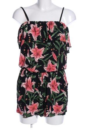 Tom Tailor Denim Jumpsuit Blumenmuster Casual-Look