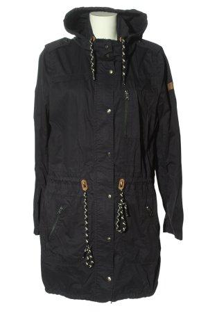 Tom Tailor Denim Cappotto con cappuccio nero stile casual