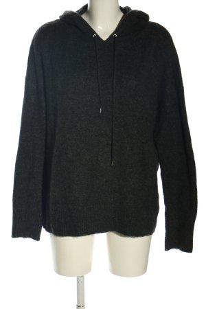 Tom Tailor Denim Pull à capuche noir-gris anthracite acrylique