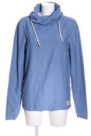 Tom Tailor Denim Kapuzensweatshirt blau Webmuster Casual-Look