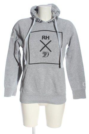 Tom Tailor Denim Kapuzensweatshirt hellgrau-schwarz meliert Casual-Look