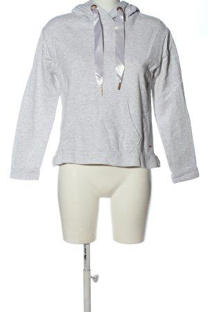 Tom Tailor Denim Hooded Sweatshirt light grey flecked casual look