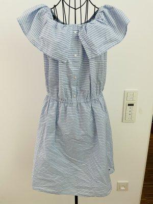 Tom Tailor Denim Kleid weiß blau gestreift Off-Shoulder XL 42