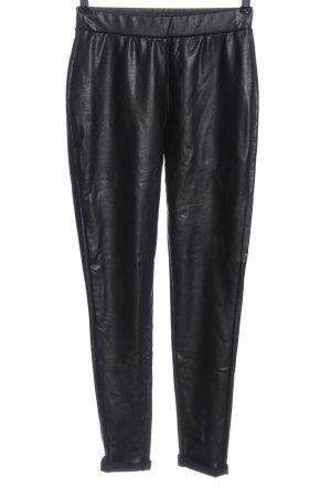 Tom Tailor Denim Faux Leather Trousers black wet-look
