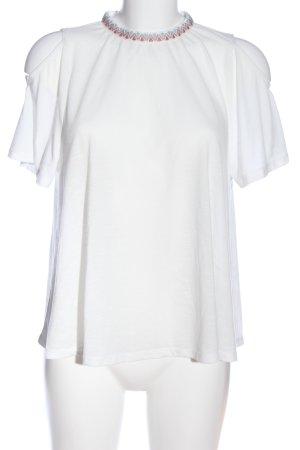 Tom Tailor Denim Kurzarm-Bluse weiß Casual-Look