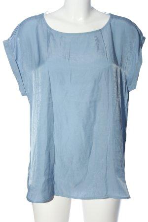 Tom Tailor Denim Kurzarm-Bluse blau Casual-Look