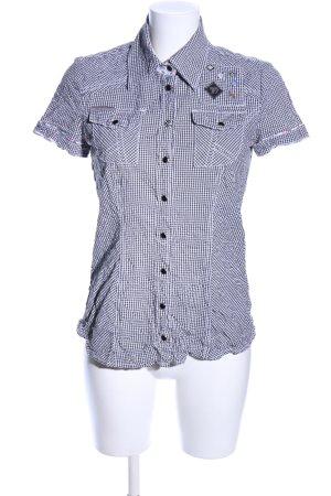 Tom Tailor Denim Short Sleeve Shirt black-white check pattern casual look