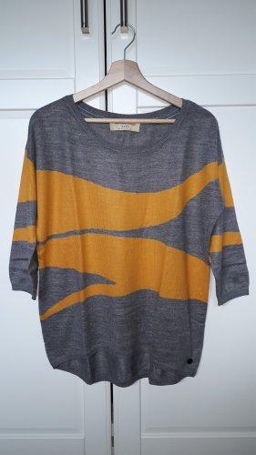 Tom Tailor Denim Pull à manches courtes gris-orange clair
