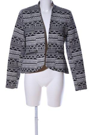 Tom Tailor Denim Kurzjacke schwarz-weiß grafisches Muster Casual-Look