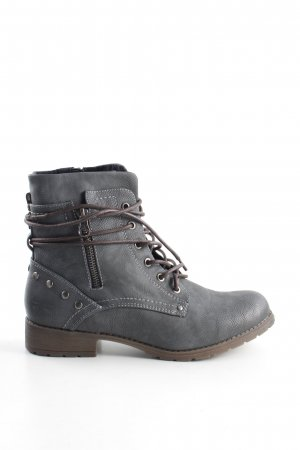 Tom Tailor Denim Kurzstiefel hellgrau Casual-Look
