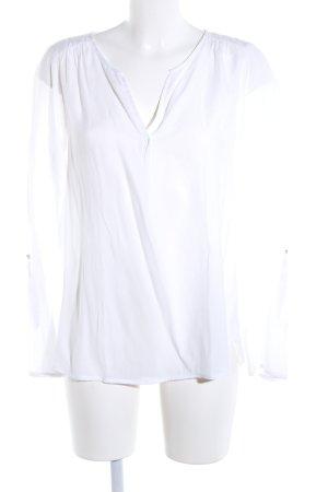 Tom Tailor Denim Langarm-Bluse weiß Business-Look