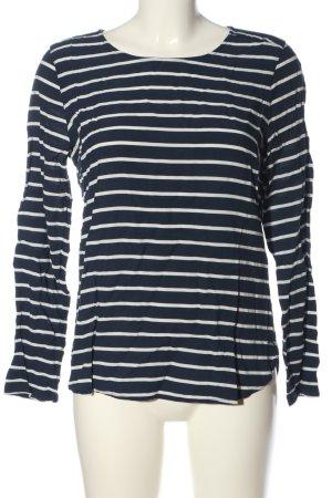 Tom Tailor Denim Longsleeve blau-weiß Streifenmuster Casual-Look