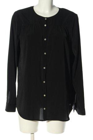 Tom Tailor Denim Langarm-Bluse schwarz Business-Look