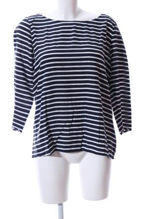 Tom Tailor Denim Langarm-Bluse schwarz-weiß Streifenmuster Casual-Look