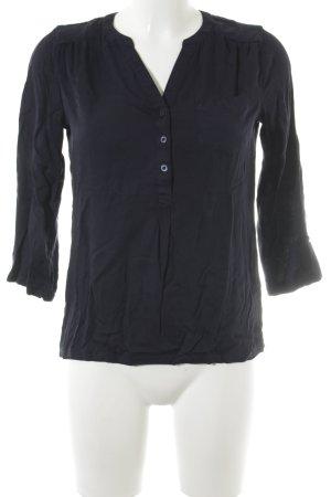 Tom Tailor Denim Langarm-Bluse dunkelblau Casual-Look