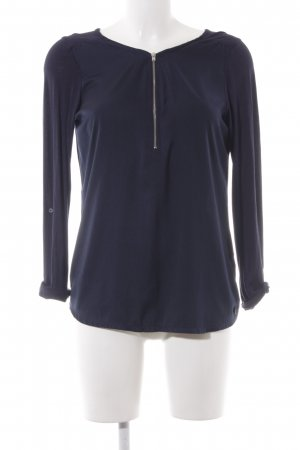 Tom Tailor Denim Langarm-Bluse dunkelblau schlichter Stil