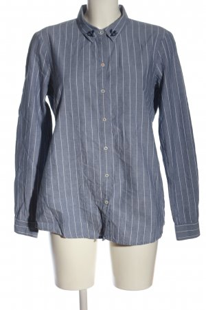 Tom Tailor Denim Langarmhemd blau-weiß Streifenmuster Elegant