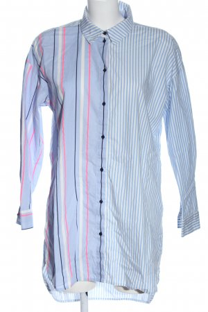 Tom Tailor Denim Camisa de manga larga azul-blanco estampado a rayas look casual