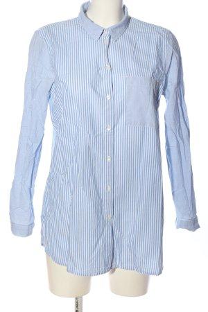 Tom Tailor Denim Langarmhemd blau-weiß Allover-Druck Business-Look