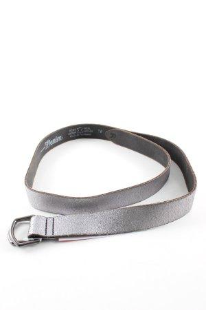 Tom Tailor Denim Cinturón de cuero color plata look casual