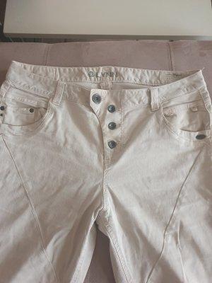 Tom Tailor Denim Jeansy typu boyfriend jasnobeżowy