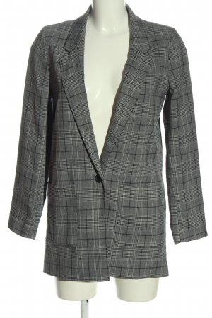Tom Tailor Denim Long Blazer natural white-black check pattern casual look