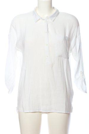 Tom Tailor Denim Long-Bluse weiß Casual-Look