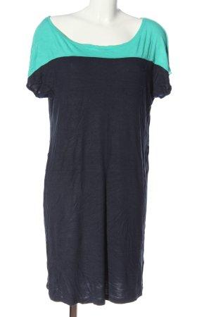 Tom Tailor Denim Long-Bluse blau-türkis Casual-Look