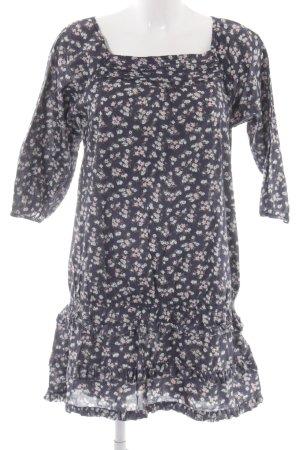 Tom Tailor Denim Long-Bluse Blumenmuster Casual-Look