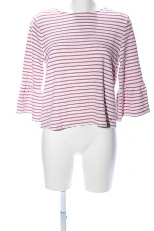 Tom Tailor Denim Longsleeve pink-weiß Streifenmuster Casual-Look