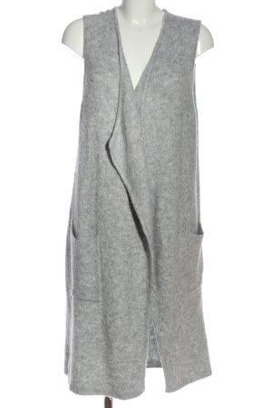 Tom Tailor Denim Gilet long tricoté gris clair moucheté style décontracté