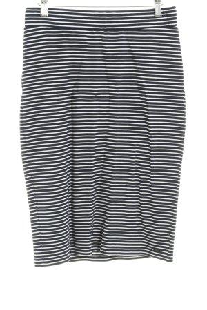 Tom Tailor Denim Maxi Skirt white-dark blue