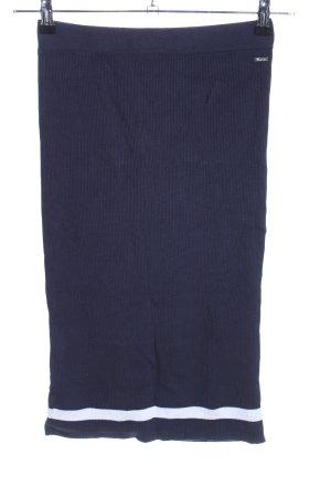 Tom Tailor Denim Midirock blau-weiß Casual-Look