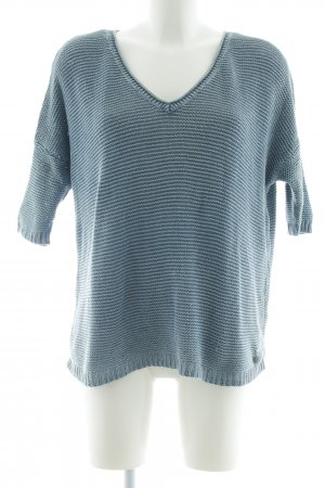 Tom Tailor Denim Oversized Pullover blau-weiß Streifenmuster Casual-Look
