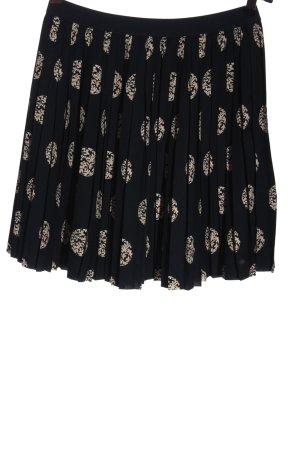 Tom Tailor Denim Falda plisada negro-nude estampado con diseño abstracto