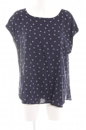 Tom Tailor Denim Print-Shirt blau Allover-Druck Casual-Look