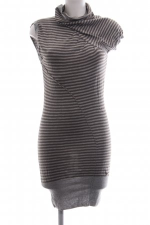 Tom Tailor Denim Pulloverkleid braun-hellgrau Streifenmuster Casual-Look