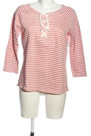 Tom Tailor Denim Camisa de rayas blanco-rojo estampado a rayas look casual