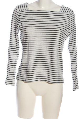 Tom Tailor Denim Stripe Shirt white-black allover print casual look