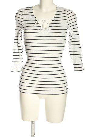 Tom Tailor Denim Ringelshirt weiß-schwarz Streifenmuster Casual-Look