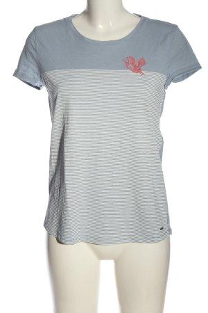 Tom Tailor Denim Camisa de rayas azul-blanco estampado a rayas look casual