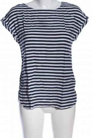 Tom Tailor Denim Ringelshirt weiß-blau Streifenmuster Casual-Look