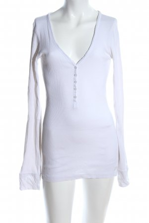 Tom Tailor Denim Geribd shirt wit casual uitstraling