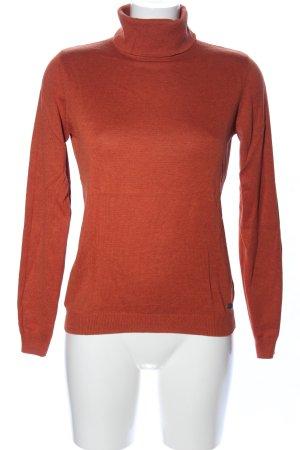 Tom Tailor Denim Turtleneck Sweater light orange casual look